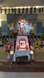 Praying for the departed soul of our Dear Bro.Maynard in Montfort Bhavan